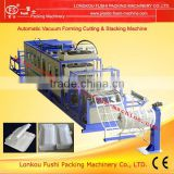Full-automatic Disposabe Food Container and Ceiling Vacuum Forming Cutting and Stacking Machine