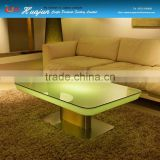 square top led lighting restaurant table PE material/dining table