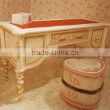 French style rose carving unique wooden kids study & drawing table for girls - BF07-70038DK