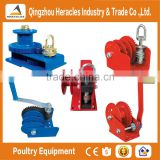 Heracles poultry equipment manual mini hand winch/poultry winch