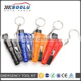 Emergency Life-Saving Car Glass Breaker Hammer Seat Belt Cutter with Keychain