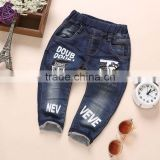 New fashion tiny child models jeans pants new pattern kids boy jeans pants