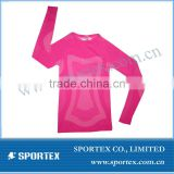 OEM High Quality Ladies seamless Compression Top / High quality compression base layer / Seamless sportswear