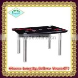 hot selling new design black high quality hot bent glass dining table