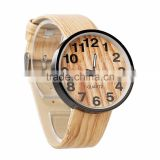 Newest wood wristwatches causal watch pu leather bamboo wooden watches for men and women best gifts