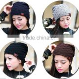 winter reversible beanie men women Pentacle Star Warm knitted ski hat,baggy crochet cap,