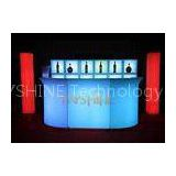 Blue LED Light Bar Counter High Table , Led Glow Furniture For Night Club / KTV / Karaoke