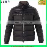 Mens shiny nylon padded down jacket, thick outdoor down outwear , Fit winter duck down jacket