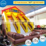TOP INFLATABLES New design giant inflatable with pool water slide mat