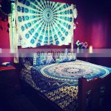 Indian Mandala Vintage Duvet Cover Ethnic Quilt Covers Hand Screen Printed Doona Cover Blanket With Pillow Cover
