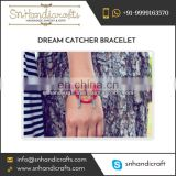 Latest Fashion Trendy Red Color Dream Catcher Bracelet