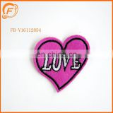 Pink Embroidery Patch Love Designs Custom Badge