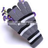 Wholesale Low MOQ factory Price Top fashion special design 100% acrylic touch screen gloves