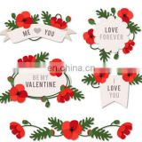 Removable wall stickers for Valentine's day
