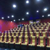 High end rocking cinema chair,leather folding cinema seats with cupholder