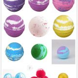individual package handmade fizzy  petal bath bombs natural