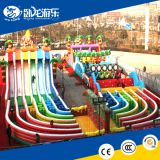 Inflatable jumping slide/air bounce dry slide/ inflatable obstacle with slide
