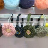 flower pattern knitting ear muff