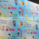 cheap high quality glossy paper custom printing educational shoe sticker for kids,child