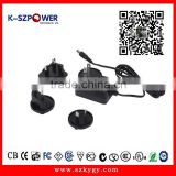 2015 k-07 12w series ygy power pvc female adaptor 12v 1a with CE