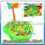 Mini Qute plastic Classic game Whack-a-mole strike susliks action figures kids indoor electronic toys NO.MQ 045