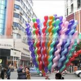 China Hot sale Screw Twisted Shaped Latex Balloon