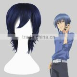 High Quality 35cm Short Straight Shugo Chara Wig Yoru Dark Blue Synthetic Anime Wig Cosplay Costume Hair Wig Party Wig