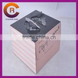 Strong corrugated paper printed custom decorative cake boxes