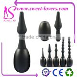 2016 Newest Hot selling PVC Vagina cleaner Ball & Five novelty full silicone attachments Sex cleaner for lady