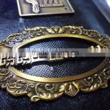 Manufacture fashion company logo zinc alloy small design metal clothing label
