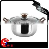 capsule bottom pots and pans Mirror And Sand Polish For Stainless Steel 8 Piece Cookwares Set