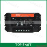 10A 15A 20A 25A 30A PWM solar charge controller/off-grid system solar regulator With DC LOAD and USB Port