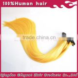 5A grade wholesale price manufacturer 100% Virgin straight human hair extensions bulk human hair pre-bonded