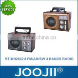 Classical AM/FM/SW 3 Band Wooden Radio With Karakoe Function, Support USB/SD/TF Multi Band Radio