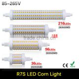 R7S LED Lamp 7W 14W 20W 25W SMD2835 85-265V Dimmable 78mm 118mm 135mm 190mm LED Corn Bulb R7S 360 Degree Halogen Led Lamp Light
