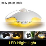 Four Leaf Clover LED lamp PIR Auto Infrared Motion Sensor Night light Intelligent Body Induction Detector Nightlight Baby gift