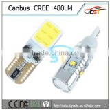 New product 2014 new hottest sale T10 9SMD 5050 12V 24V super canbus Car W5W T10 led Car COB