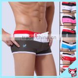 2015 plus size swimwear Fashion Men's swimwear fabric Sexy Shorts Boxers Sports suit spandex swimwear