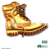 3D shiny gold boots keychain machine to make key chains supply in china
