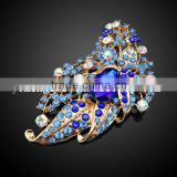 China Supplier Fashion Flower Jewelry Brooch Crystal Rhinestone Pin Brooch For Wedding Invitation