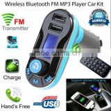 Top Sale FM Bluetooth Transmitter Car Mp3 Kit Player Usb Sd Lcd Wireless Remote Modulator Mmc Charger Handsfree