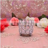 gold and silver round crystal wedding decoration candelabra centerpieces for wedding party table(CAN-015S)