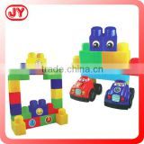 3D Funny bricks play toys with free wheel car