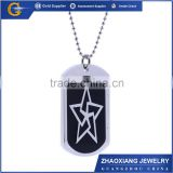TPC003 sterling silver jewelry star necklace custom pandant star tag pendant