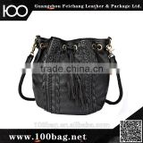 Fashionable Magazine PU Leather Soft Shoulder Bag