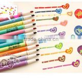 double heads color highlighter , fine and slim watercolor pen ,marker pen