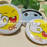 smiley pin badges