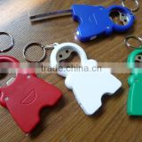 New design cheap and good quality mini keychain bottle opener with led light