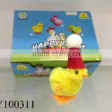 Funny plastic and plush wind up toy chick Easter & Christmas wind up chick minion toy plush toy chick