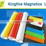magnetic sheet,flexible rubber magnet,plastic magnet,glossy whitevinyl sheet,advertising consumables,0.75mm,